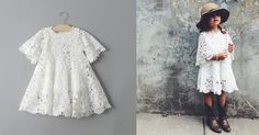 Lots of love for the Bohemian Love Dress.  The perfect white crochet dress for any special little girl. Check it out at http://www.littletrendsetter.com/collections/girls-dresses/products/bohemian-love-dress?variant=2535403844