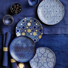 Hanukkah is here! Our roundup of entertaining essentials includes blue mosaic glassware and plates, silver serveware, and a manzanita menorah. Hanukkah Decorations, Hanukkah Gifts, Happy Hanukkah, Hannukah, Table Decorations, Hanukkah Food, Hanukkah 2019, Hanukkah Menorah, Centerpieces