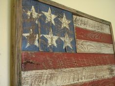 Rustic Barn Wood American Flag---The very best way to honor those lost on is to live each day to the fullest, appreciate the small things, tell your family you love them and take delight in simple pleasures. Never lose sight of your roots. Barn Wood Crafts, Barn Wood Projects, Old Barn Wood, Rustic Barn, Rustic Wood, Country Decor, Rustic Decor, Primitive Decor, American Flag Wood