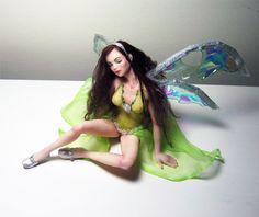Niada OOAK polymer clay fairy fae faerie doll by Twinessence, $195.00