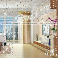 Bead curtain crystal entranceway soft decoration finished products fashion bead curtain beautiful door curtain-inCurtains from Home  Garden...