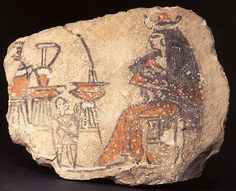 Ostracon figuré : femme allaitant un enfant vers 1300-1200 av JC Musée du Louvre #Allaitement_et_nounou