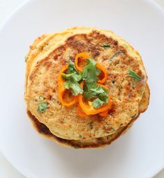 Chickpea Flour Pancakes with Cauliflower and Shiitake mushrooms. Glutenfree Vegan Recipe