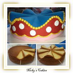 Wave taart in stijl van Oilily #wavetaart #oilily #taart #cake