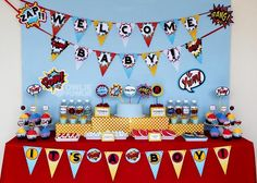 """Photo 8 of 20: Superheros / Baby Shower/Sip & See """"Super Hero Baby Shower"""" 