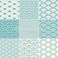 ベクトルアート : seamless ocean wave pattern