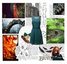 """"""""""" The day i find my fate """"  ~ Merida"""" by jen-the-glader ❤ liked on Polyvore featuring Mode, Donna Karan, True Decadence, American Apparel, Alexis Bittar, Disney, Merida, women's clothing, women und female"""