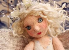 needle felted fairy doll by Laura Lee Burch