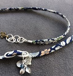 Liberty bracelet with orchid drop