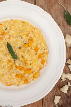 Butternut Squash Sage Risotto with Goat Cheese