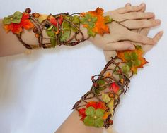 Autumn Fairy Cuff Set by Frecklesfairychest on Etsy, $110.00