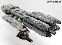 Battlestar Galactica: Pegasus - Display Modell, Fertig-Modell, http://spaceart.de/produkte/bsg008.php