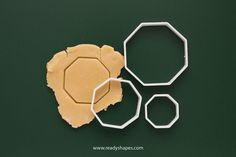 Octagon cookie cutter, printed - geometric shape octagon biscuit cutter for creative fondant cake decoration - one of a kind ooak present Mini Cookie Cutters, Cake Decorating With Fondant, Biological Resources, Geometric Shapes, 3d Printing, Unique Jewelry, Handmade Gifts, Cookies, Printed