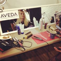 #Aveda station backstage at Rebecca Taylor. #nyfw