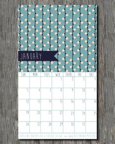 2014 Calendar for Wall or Desk - Colorful Prints and Patterns Designed by Kristina Kraemer on Etsy, $20.00