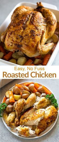 This AMAZING Roasted Chicken recipe is so easy that even the most amateur cook can knock it out of the park! Plus step by step photos and video tutorial!