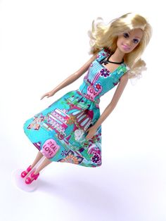 Handmade Barbie Dress Blue Doll Dress Doll by RianasDollCloset