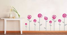 Wall decal flowers - Google Search