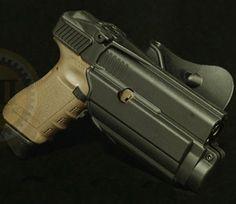 IMI-Z1600-Glock 17/19 Tactical light/laser holster level II