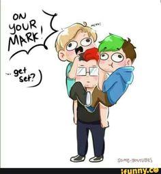 Hahahajajahahahah!!!!  Mark's like wtf!!!!!!