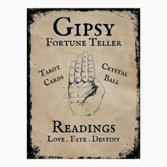 Gipsy fortune telling Halloween prop Poster Halloween