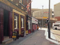 Michael John Ashcroft - Lower Turks Head Manchester- Oil - Painting entry - February 2017 | BoldBrush Painting Competition
