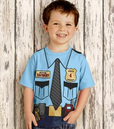 Police Officer Shirt Personalized Boys by SimplySublimeBaby
