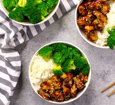 15 Minute Teriyaki Chicken - the easiest, most unbelievably delicious Teriyaki Chicken with Rice Bowls. All you need is only a few ingredients: chicken breast, soy sauce, cider vinegar, honey and cornstarch. One of the best Asian dinner ideas! Served with rice and broccoli. Quick and easy dinner recipe. Video recipe. | Tipbuzz.com #Teriyaki #TeriyakiChicken #ChickenTeriyaki