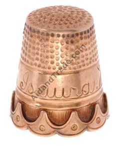 Dropshipping 18-Kt pink gold antique thimble Dropshippers in america dropship directory