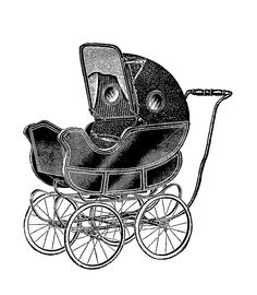 Antique Images: Free Baby Carriage Graphic: Vintage Digital Stamp ...