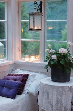 Curled up watching the rain...