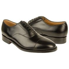 Johnston and Murphy Hyde Park II Shoes (Black Smooth Calf) - Men's Shoes - 8.0 E