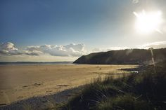 Pendine Sands beach, Carmarthen, Wales ❤