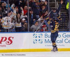 97b3e4305 Buffalo Sabres Phil Varone celebrating his first career NHL goal!! Buffalo  Sabres, Blue