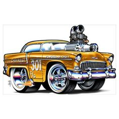 Rohan Day Muscle Cars | Reap It 55 Chevy Poster