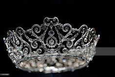 The Delhi Durbar Tiara, which was loaned to the Duchess of Cornwall in 2005, on display in the Diamonds: A Jubilee Celebration exhibition which forms part of the summer opening of Buckingham Palace on June 28, 2012 in London, England. 10,000 diamonds set in works acquired by six monarchs over three centuries go on display to mark Queen Elizabeth II's 60 year reign. With many items from the Queen's personal collection joining those chosen for their artistic significance and historical…