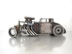 Metal Hot Rod Sculpture by Brown Dog Welding, via Flickr