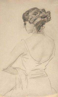 Valentin Serov (Russian,1865-1911)  Portrait of Tamara Karsavina,19th century ballerina