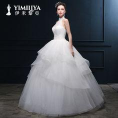 Imi LI Ya Princess Halter wedding dress 2015 new tutu fashion models personalized custom wedding LS034
