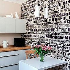 21 best kitchen wallpapers images kitchen wallpaper wall papers rh pinterest com