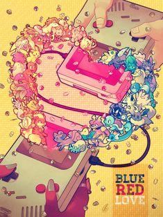 Blue Red LOVE by SaiyaGina.deviantart.com on @deviantART