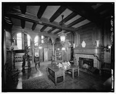 INTERIOR VIEW OF CENTRAL HALL - George Sealy House, 2424 Broadway, Galveston, Galveston County, TX, www.loc.gov