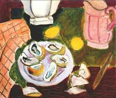 """huariqueje: """" Oysters - Matisse, Henri , 1940 French, 1869-1954 Oil on canvas, 9 ½ x 11 ¼ inches (238 x 283 mm) """""""