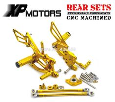 99.68$  Buy now - http://ali0zc.shopchina.info/1/go.php?t=32436134338 - Gold  CNC Billet Foot Control Kit Rearset Rear Sets For Honda CBR600RR 2003 2004 2005 2006 CBR1000RR 2004 2005 2006 2007 99.68$ #aliexpresschina
