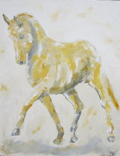 Dressage Horse Painting Extended Trot Diagonal by lindadonohue, $265.00