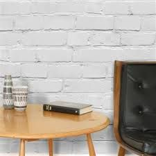 paintable brick texture wallpaper-- accent wall in master