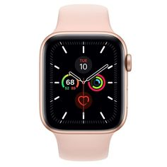 Apple Watch Series 5 GPS, Boîtier en aluminium or de 44 mm, Bracelet Sport rose des sables - Regular - Apple (FR) Buy Apple Watch, Apple Watch Nike, Apple Watch Series, Apple Watch Bands, Smartwatch, Noise App, Ecg App, Bracelet Sport, Ipad