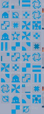 Building Blocks Cheater Cloth Quilt Panel from Spoonflower