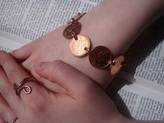 Penny For Your Thoughts Bracelet by MADjewelles on Etsy, $20.00
