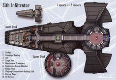 Scimitar (Sith Infiltrator) Deckplans
